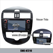 Nissan tiida stereo radio car dvd player gps navigation TV SWE-N7219
